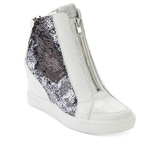 DKNY Caz Sequin Platform Sneakers